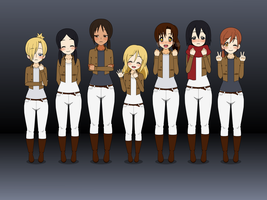 SNK Canon Ladies I [WITH EXPORTS!] by TrashyGuroPrince