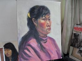 3 hours oil painting 15 by curryQ