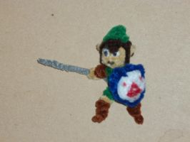 Link (Adventures of Link) by fuzzyfigureguy