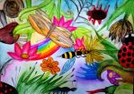 Flowers and insects by Ellaidathea
