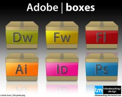 Adobe box icons by tRiBaLmArKiNgS