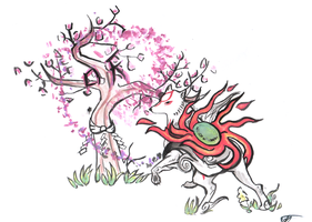 Okami Bloom  by Bluepisces97