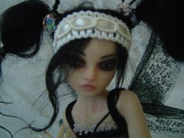 Goth Fae OOAK Tattered Fairies by LindaJaneThomas