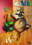 Witches Cat And The Magic Book  Lineart  By Bliood by shiv0611