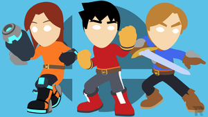 Mii Fighters Minimalist by turpinator77