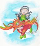 A Girl and Her Dragon by dragonwarriorsgalore
