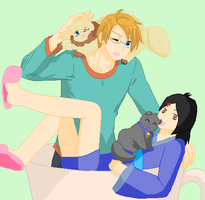 america and kyoto: kitty date by DiBgIrL100