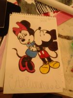 Mickey and Minnie by LightningSweetharta