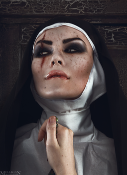 Halloween themed - Tainted Nun by MilliganVick