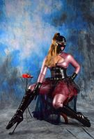Red Rose, Latex and Ballet Boots by LatexModel