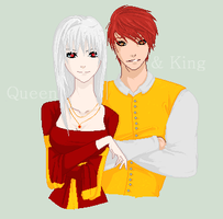 King :and: Queen by PurpleKakashi