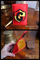 Gryffindor - Felt Cell Phone Case by ClockworkHeartComple