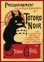 Le Totoro Noir by Little-Endian