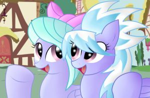Cloud Chaser and Flitter by pikashoe90