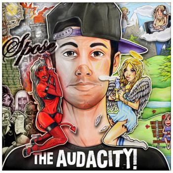 Spose album cover for THE AUDACITY 2012 by phayce