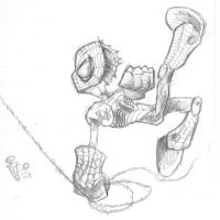 Spidey Outfit Sketch by icoman