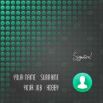 Business Card Personal Background by madjarov
