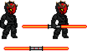 Darth Maul Sprites by BLZofOZZ