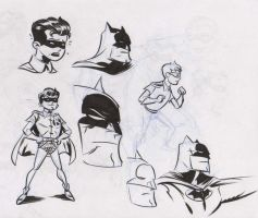 Batman and Robin Warmups by dfridolfs