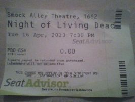 proud moment, a Ticket for the show by adamero