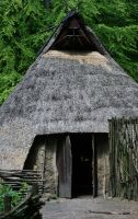 Entrance to the longhouse by Dewfooter