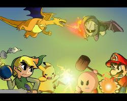 Smash Bros Brawl by ChuckNorris01