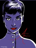 Audrey Hepburn by shinakari