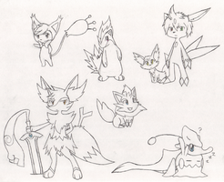 Mission 1 Cameo Sketches by SketchSuke