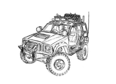 jeep wrangler coloring pages jeepcherokee explore jeepcherokee on deviantart