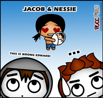 Jacob and Nessie by crepusculito