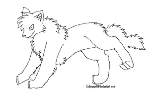 Cruddy Wolf Lineart 1 by FadingPast