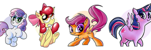 Galacon MLP Stickers by AnotherAverageArtist