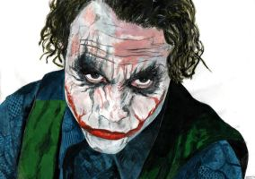 Heath Ledger as The Joker by Menco