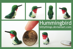 Ruby-Throated Hummingbird - Gift by Bittythings