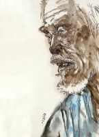 Old man sketch by phongduong