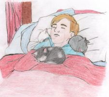 Cat Nap - Colored by lilprincessofthelion
