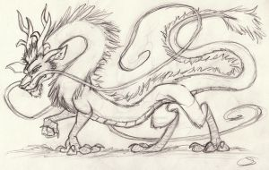 Dragon Sketch by Animator-who-Draws
