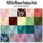 1920s Waves Pattern Pack by SewDesuNe