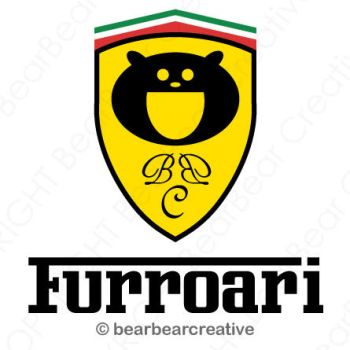 Ferrari FURROARI car logo BEAR by BearBearCreative
