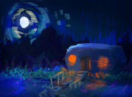 Trailer at night by caiobuca