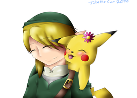 SSBB Link and Pikachu by RunawayFantasy