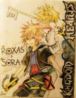 Roxas and Sora from Kingdom Hearts. by DeadBunnyKillMeSlow