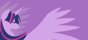 Princess Twilight Sparkle Minimalist Wallpaper by Casey-the-unicorn