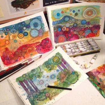 ETSY SALE- Today Only! And New Doodles WIP by CAMartin