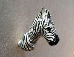 Zebra Head Trophy by aakritiarts