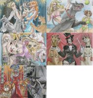 Pitbulls and Pinups Puzzle Cards by AmberStoneArt