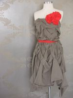 jersey dress with red roses by mikomaju