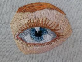 Embroidered Eye by Iseldelth