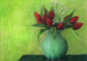 Red tulips by AnnaSulikowska