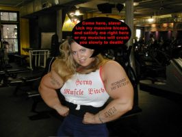 She is demanding by musclewomen